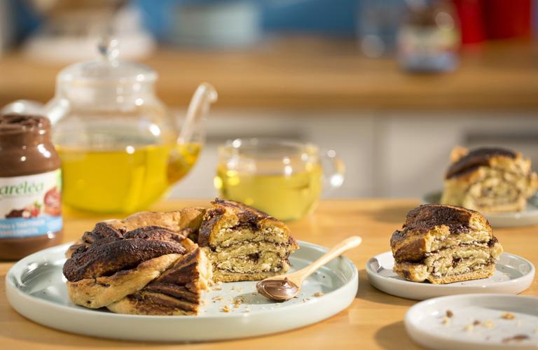 Image de la recette de scônes tressés à la pâte a tartiner noisette Karéléa